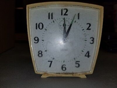 Vintage Retro Mid-Century Smiths Alarm Clock Does Not Work Great Britain #130