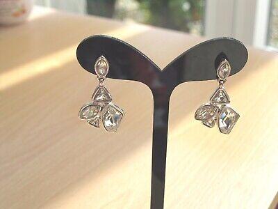 Illume Multi Swarovski Crystal Drop Earrings Brand New in Organza Bag