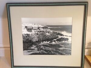 Vintage Framed Signed Photograph of Pouch Cove NFLD