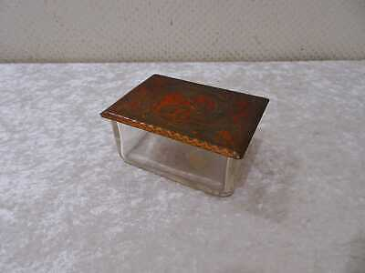 Glas Container With Metal Lid - Vintage - Indian Elephant - Asian Design