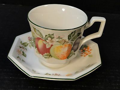 Johnson Brothers Fresh Fruit Cup Saucer Set Strawberry Floral MINT