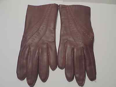 VINTAGE VINYL GLOVES  BURGUNDY OR MAROON COLOR  Size Small