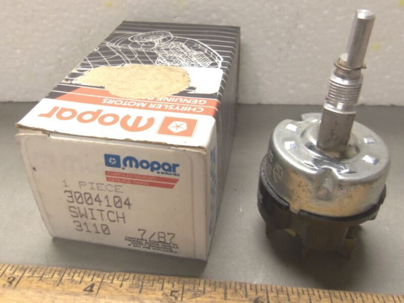 Mopar - Chrysler - Windshield Wiper Rotary Two Speed Switch - P/N: 3004104 (NOS)