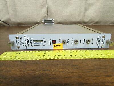 Bnc Berkeley Nucleonics Ieee-488 Gpib Interface Plug In Module 8088 Nim Nimbin