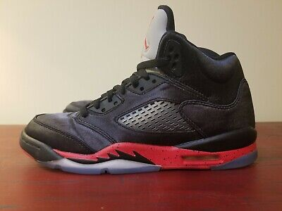 Nike Air Jordan 5 Retro Satin Bred Black/Red Shoes Youth (440888-006) Size 7Y