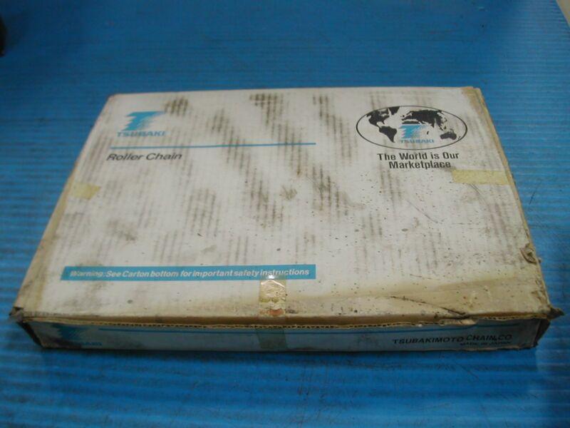 TSUBAKI ROLLER CHAIN C-2080 HOLLOW PIN 10FT NEW IN BOX I5