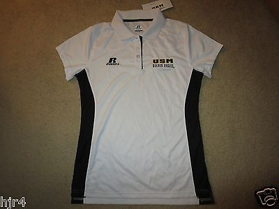 Southern Miss Mississippi Golden Eagles Dri Power Golf Polo Shirt Womens M Med