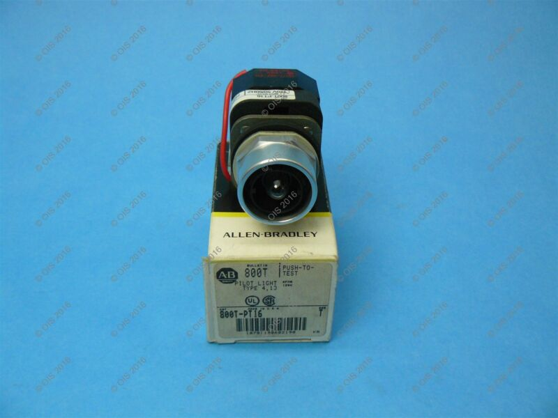 Allen Bradley 800T-PT16 Pilot Light Push to Test 30.5 MM 120VAC No Lens