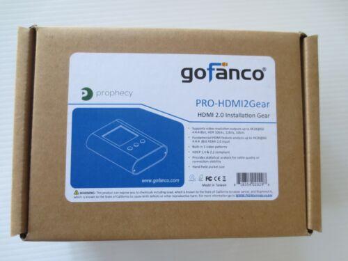 gofanco Prophecy HDMI 2.0 Installation Gear for Pro Installers PRO-HDMI2Gear