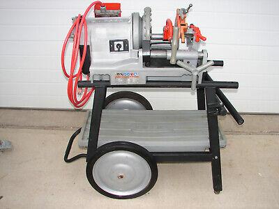 Ridgid 300 Compact Pipe Threader Threading Machine With 92462 Wheel Tray Stand