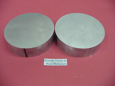 2 Pieces 5-14 Aluminum 6061 Round Rod 1 Long T6511 Solid Lathe Bar Stock