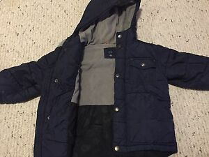 Navy Gap puffy jacket. Size 2T