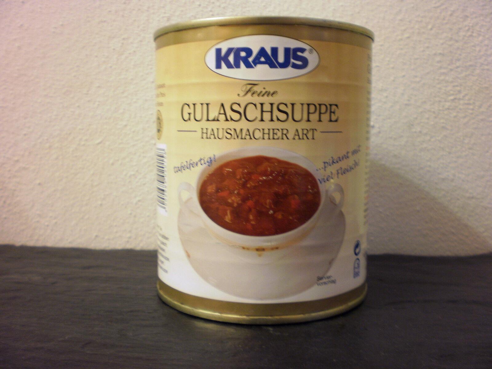 Gulaschsuppe Hausmacher Art  vom Metzger keine Industrieware Konserven 800 ml