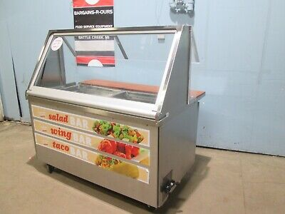 Randell Commercial Led Lighted Nsf Refrigerated Subway Style Prep Station