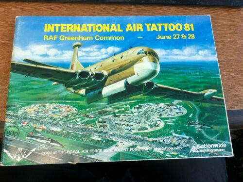INTERNATIONAL AIR TATTOO 1981 RAF greenhamm Common airshow program