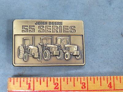 John Deere 55 Series Tractor BELT BUCKLE Brass 1987 4255 4455 4655 3155