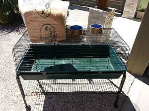 Large Guinea Pig / Rabbit cage with stand on wheels Coomera Gold Coast North Preview