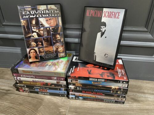 Dvd Lot Of 16- Labyrinth, Scarface, The Doors, Clueless, Popeye, Serendipity - $9.99