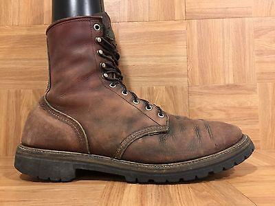 Vintage🔥 Red Wing Irish Setter 899 Tall Boots Brown Leather Made ...