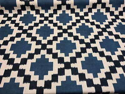 Paty Blue Bird Eye Linen Upholstery Teflon finish Fabric by the yard