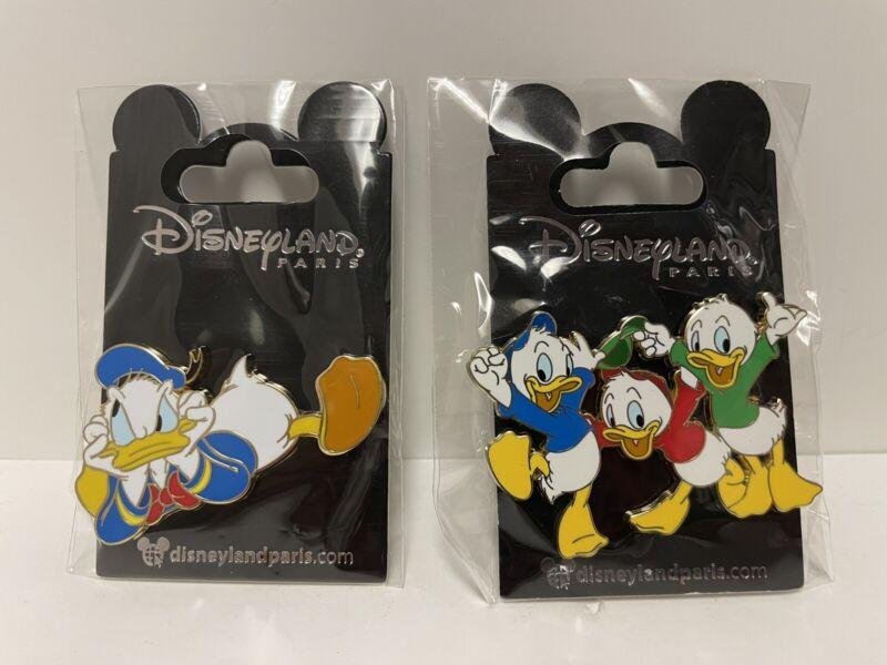 New Donald And Dewey Huey Louie Disney Land Paris Dlrp Dlp July 2021 Pins