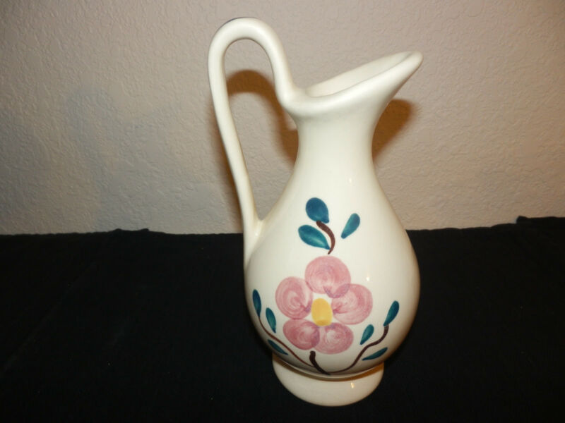 "Purinton Pottery - Mountain Rose - Pitcher/Jug 7 3/4"""