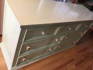 Mint green long misfit dresser - available