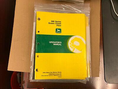 John Deere Oem Operators Manual 680 Drawn Chisel Plow K7