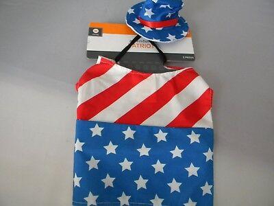 Patriotic USA AMerican Halloween Pet Dog  Costume Size - Halloween Usa Pet Costumes