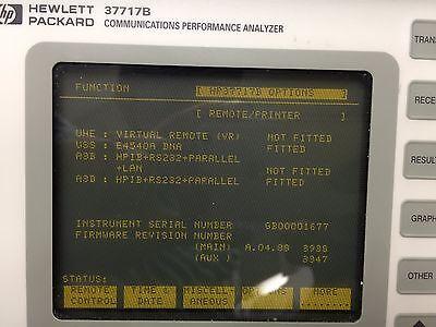 Hpagilent37717b Communications Performance Analyzer Options A3d And Uss