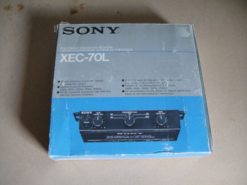 SONY Electronic Crossover Network XEC-70L