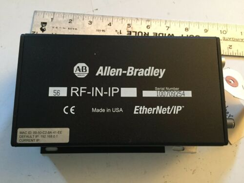 USED ALLEN BRADLEY 56RF-IN-IP HIGH-FREQUENCY RFID TRANSCEIVER ETHERNET/IP,BOXZH
