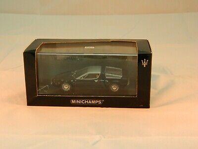 MINICHAMPS MASERATI BORA 1972 BLACK 123400 Ltd Ed 1 of 5,040
