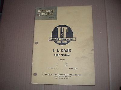 J.i. Case Tractor It Shop Repair Manual D La S Va