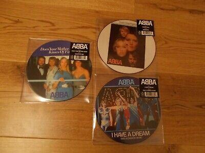 """Abba Picture Discs 7"""" X 3 -  Vinyl Brand New"""