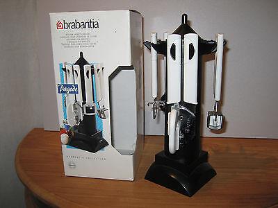 BRABANTIA *NEW* BLANC NOIR Carrousel pour ustensiles de cuisine H.31cm Gadget