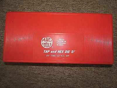 "MAC Tools Tap And Hex Die Set 1/4"" thru 1/2"" N.C. and N.F. in Hard Red Case"