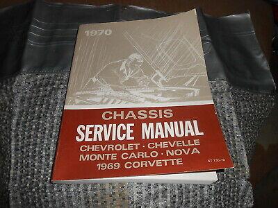 Chevrolet Chassis Service Manual 1970 Chevelle Camaro Monte Carlo 1969 Corvette