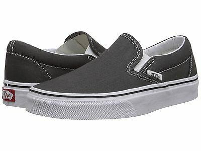 Men's Vans Classic Slip on Charcoal Fashion Sneakers Canvas