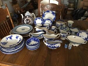 Flow blue / Wedgewood many other assorted China