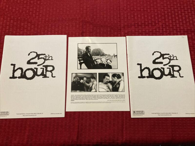 25th Hour Production Notes (2) , Press Photo 2002 Edward Norton Rosario Dawson