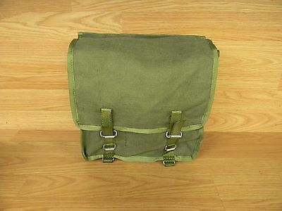 UNISSUED POLISH ARMY CANVAS BREAD BAG WITHOUT CARRY STRAP MILITARY SURPLUS BAG