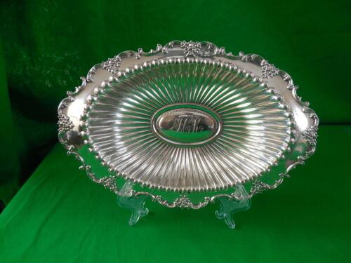 "Fancy Sterling Silver Dish ~ Unknown Maker ~ 151 grams ~ 8.5"" x 6.125"""