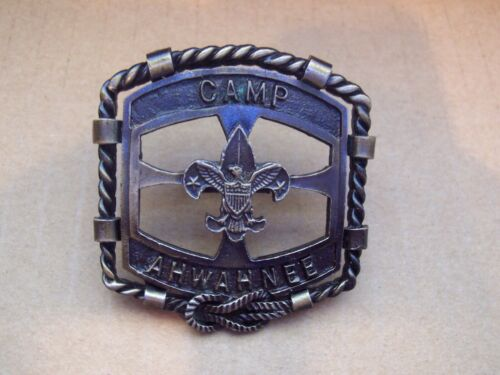 Boy Scouts of America BSA neckerchief slide from Camp Ahwahnee , very nice