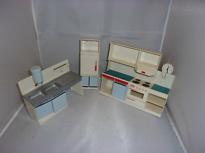 Alte Möbel-Küche für Bastler-Modella-Puppenstube-Puppenhaus-Kaufladen-1:12
