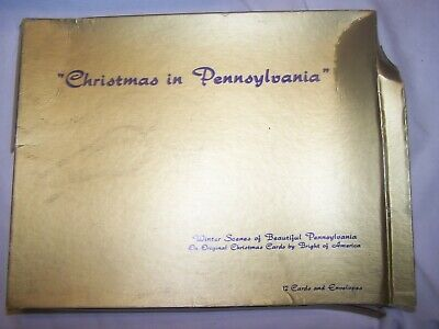 Vintage Christmas in Pennsylvania Winter Scenes Cards Envelopes Boxed Set New - Christmas Winter Scenes
