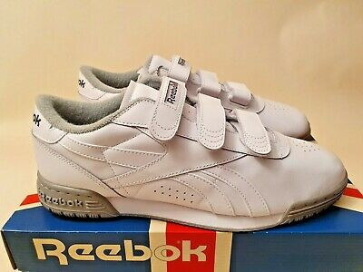 Reebok Exofit 600 Velcro Men 'White Carbon' Retro New (10 US) Air Gel pump covid 19 (Air Gel Carbon coronavirus)