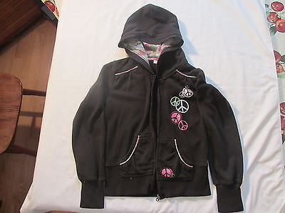 Girl's black jacket with hood  sz Lby grainie for sale  Shipping to India