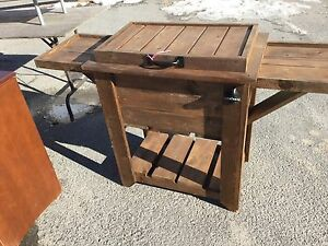 Red cedar deck cooler/bar, $150