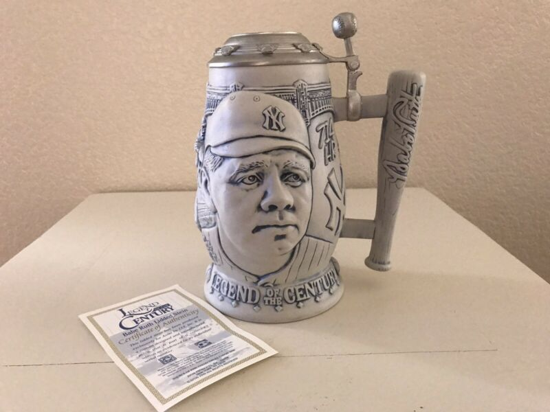 Babe Ruth Legend of the Century Collector's Stein with COA